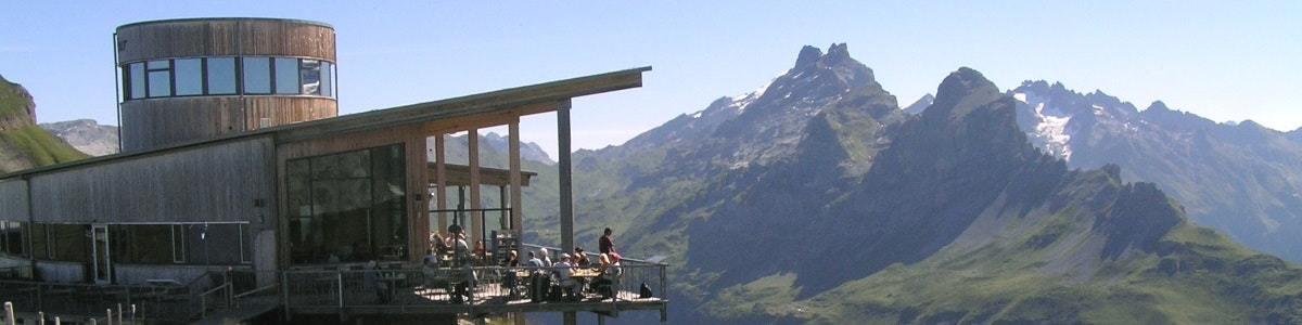 Alpentower restaurant at Planplatten