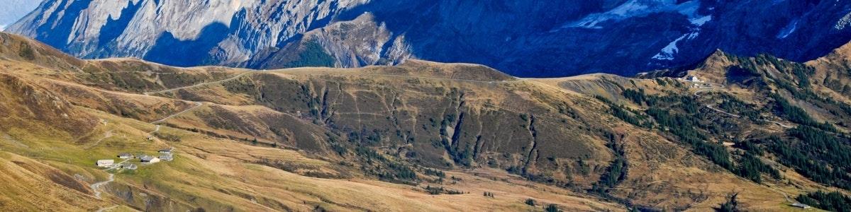 Zicht richting Grosse Scheidegg en het Rosenlauital