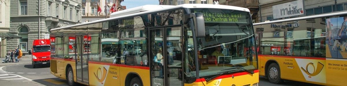 Bus in Interlaken