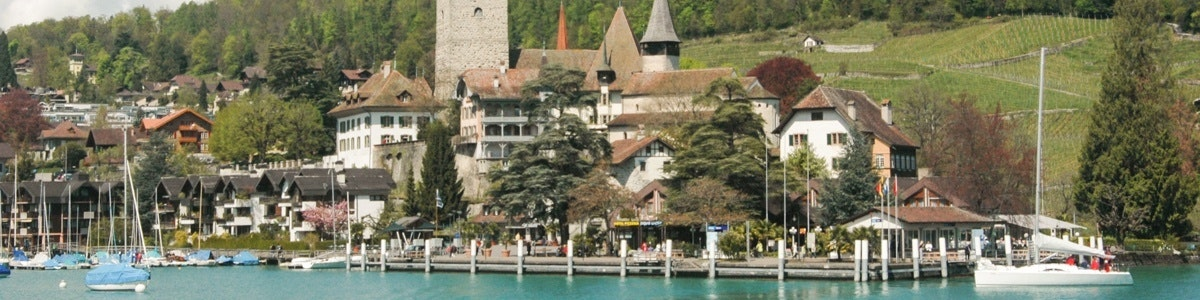 Spiez along Lake Thun