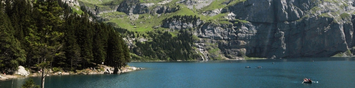 Lake Oeschinen above Kandersteg