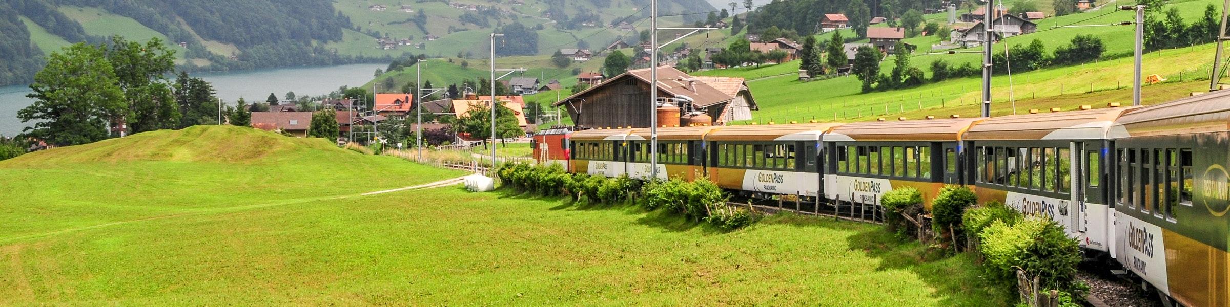 Golden Pass train near Lungern