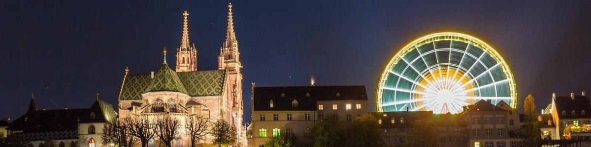 Basel Münster by night