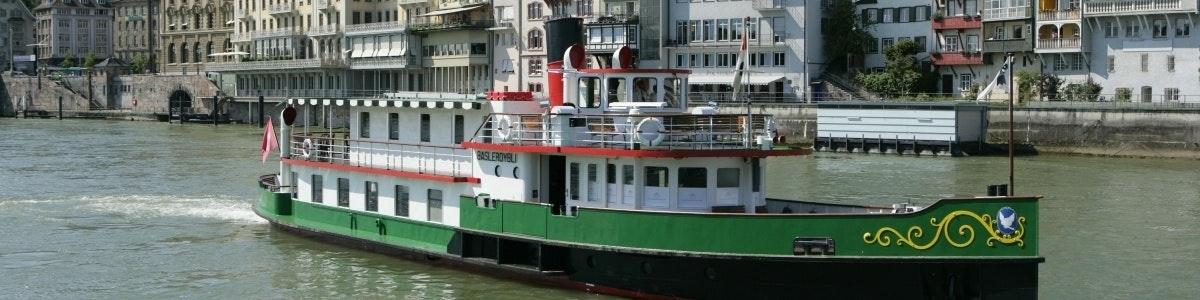 Baslerdybli op de Rijn in Basel