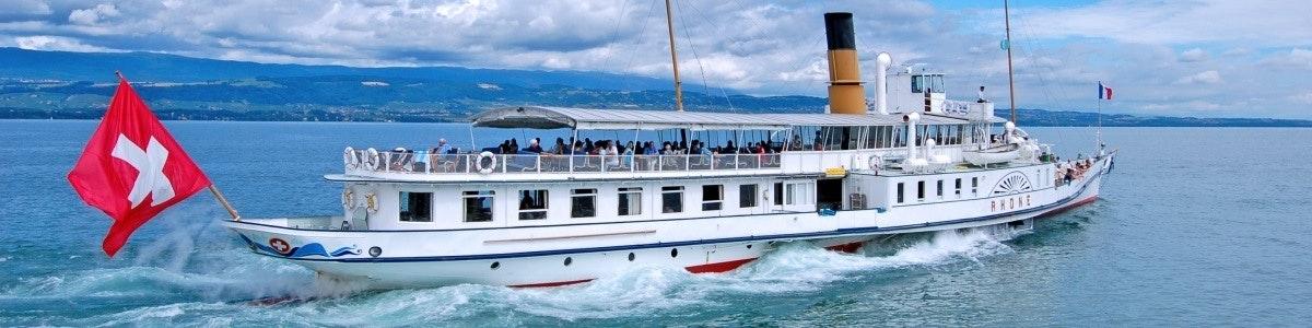 Lake Geneva paddle steamer Rhone