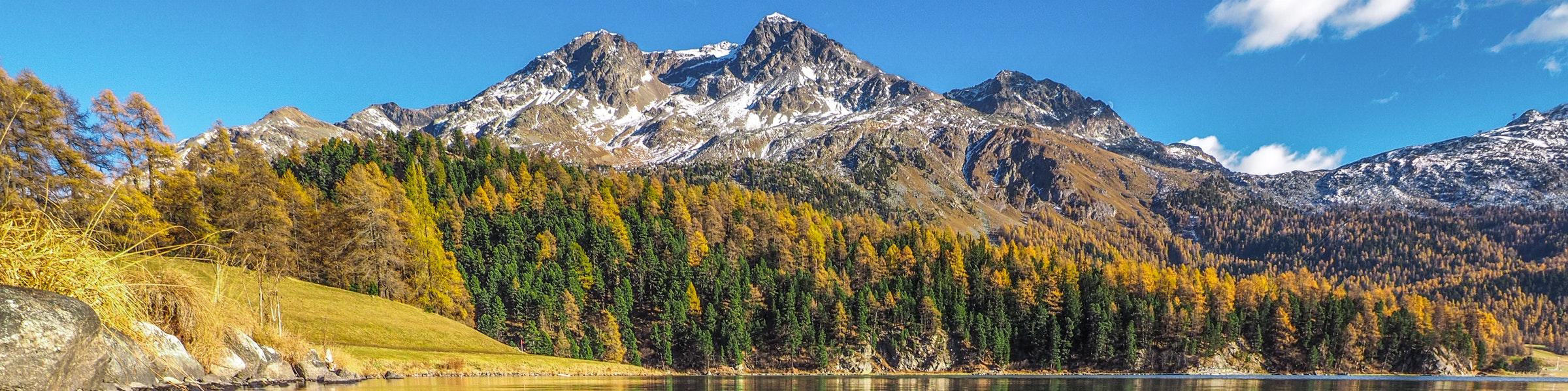 Lake Silvaplana in autumn