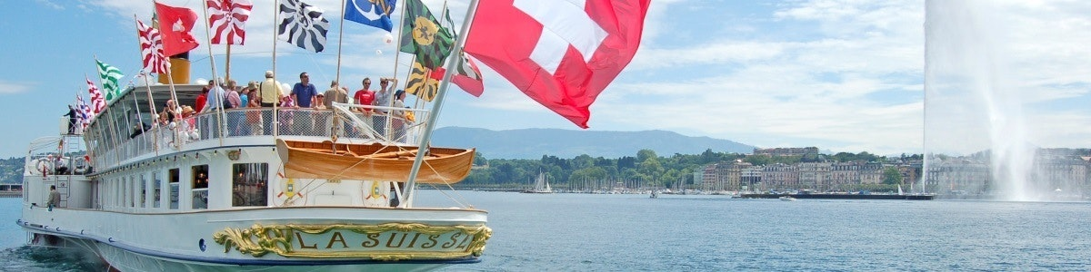 Meet van Genève stoomboot La Suisse