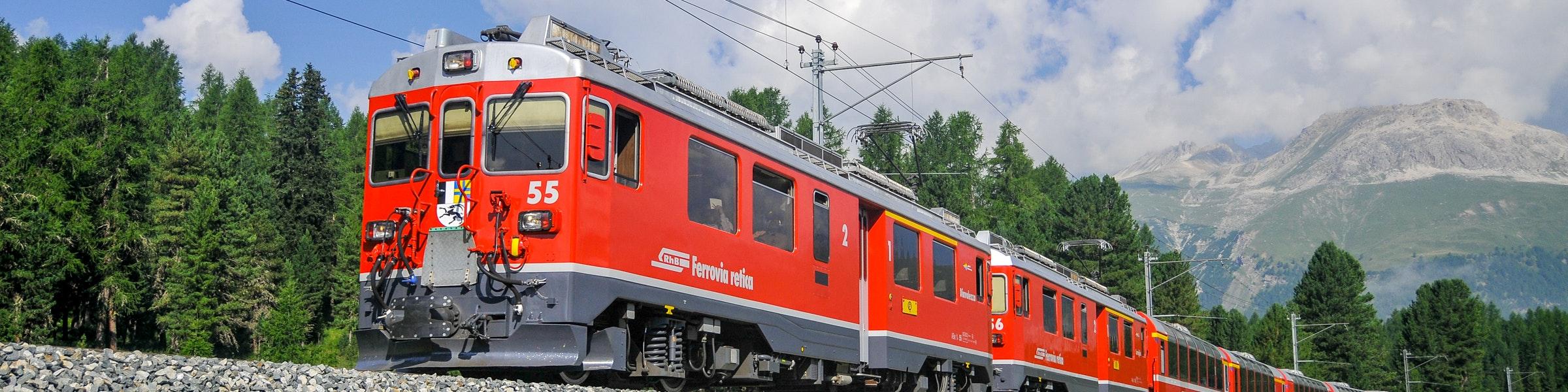 Bernina Express bij Pontresina