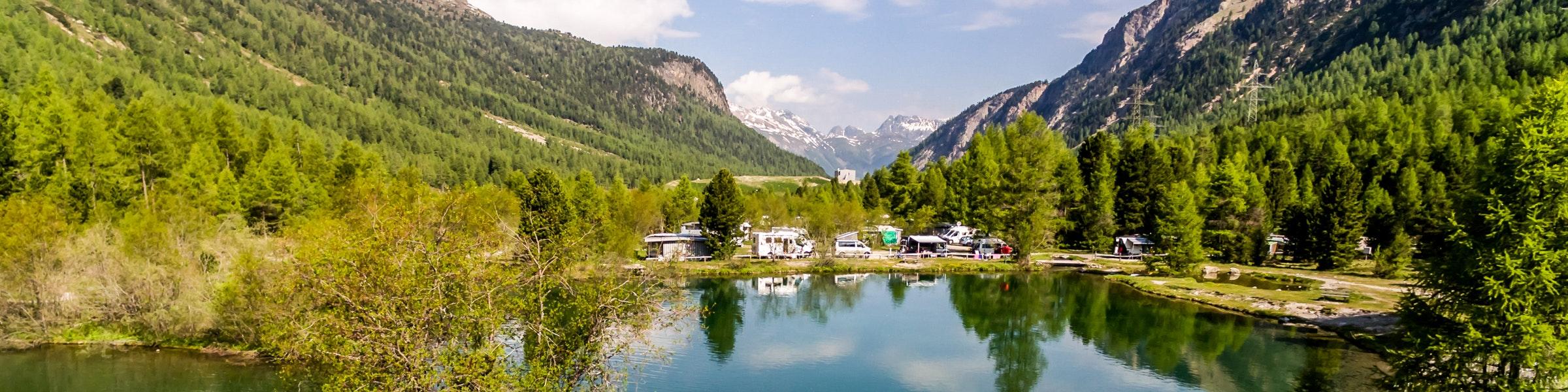 Camping at Morteratsch
