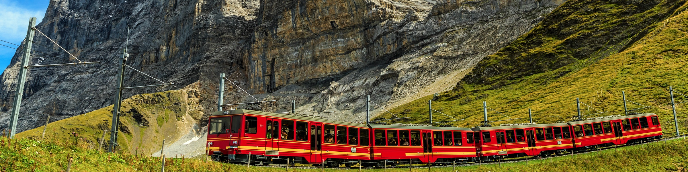 Jungfraujoch-Zug bei Kleine Scheidegg