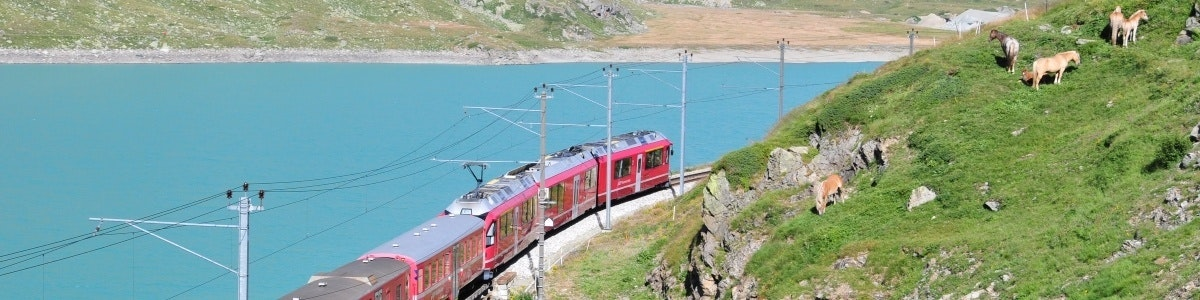 Train on Bernina Pass