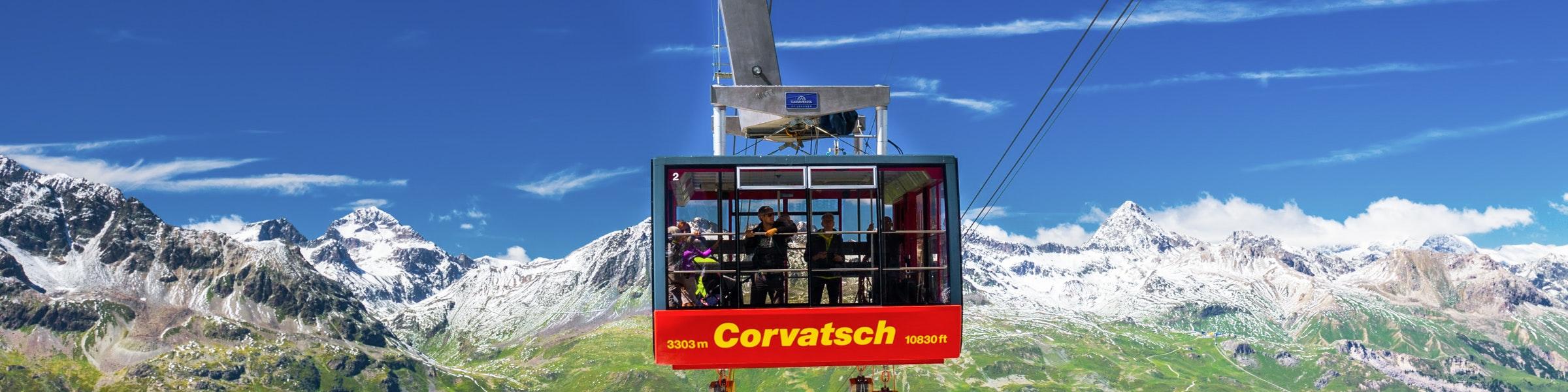 Cable car Murtèl Mount Corvatsch