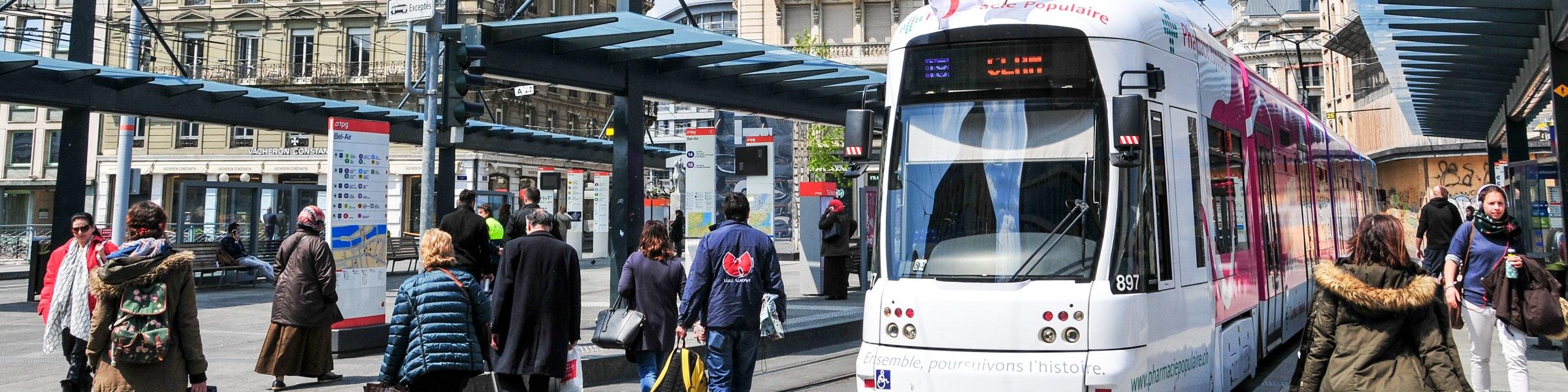 Place de Bel Air Genève tramhalte