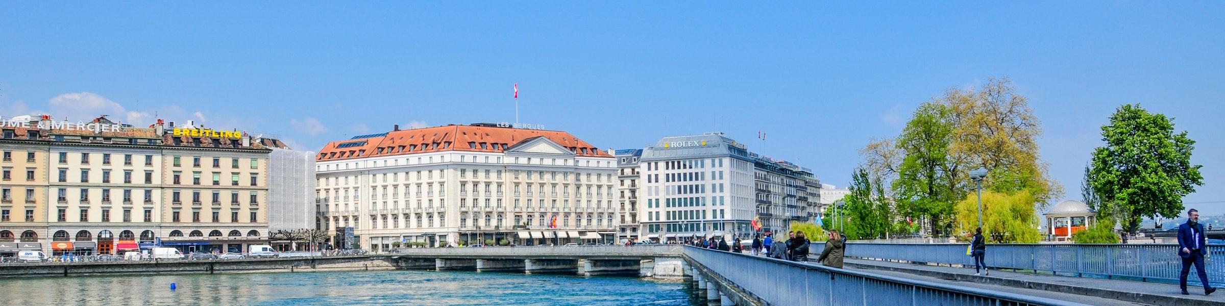 Pont des Bergues in Genève