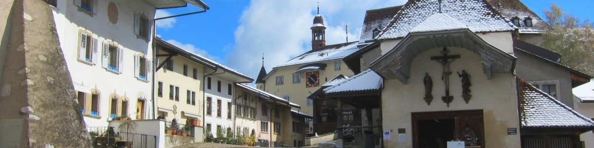 Gruyères town square