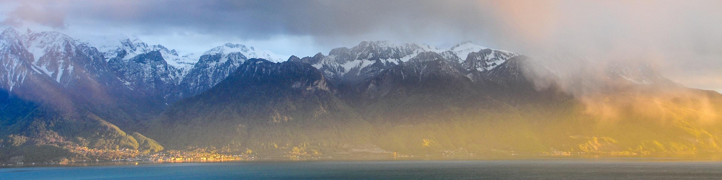 Lake Geneva clouds