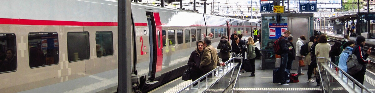 Lausanne station TGV