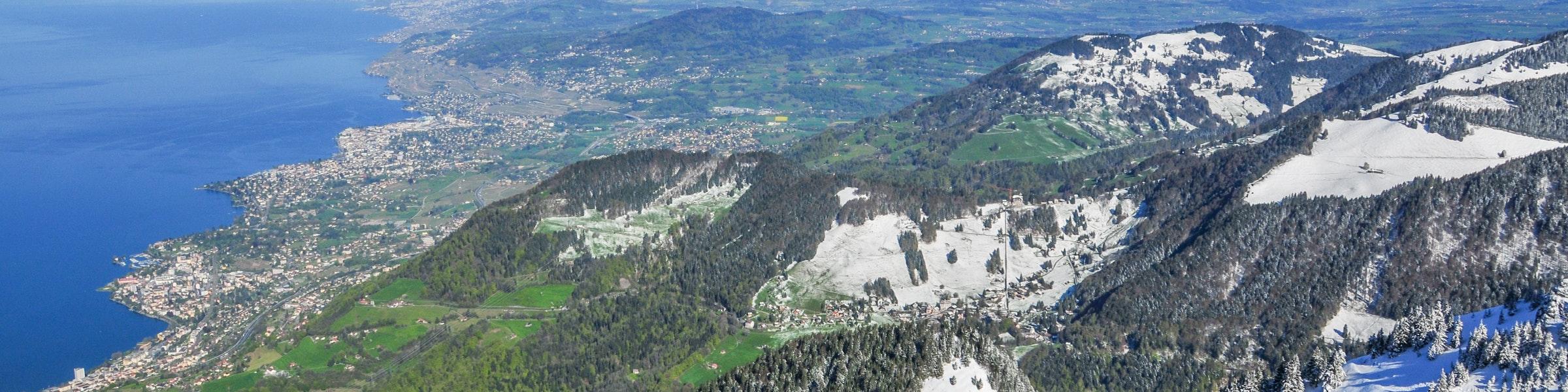 Uitzicht vanaf Rochers-de-Naye