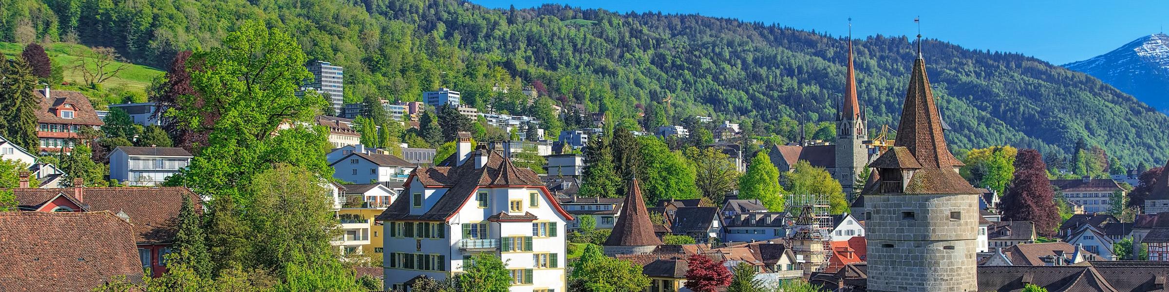 De stad Zug
