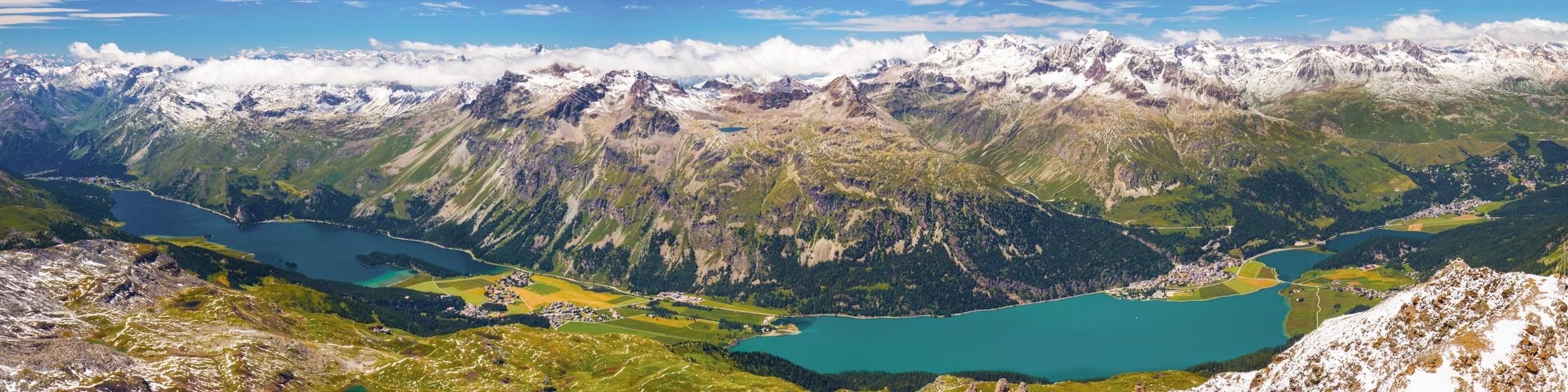 Uitzicht vanuit Murtèl op de Corvatsch
