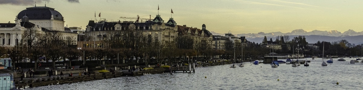 Zurich opera house and lake