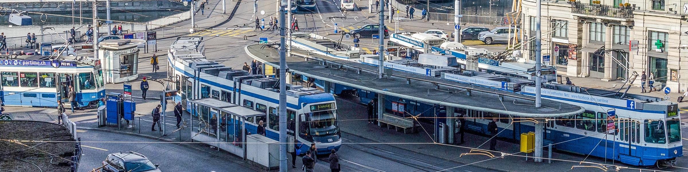 Tramhalte in Zürich