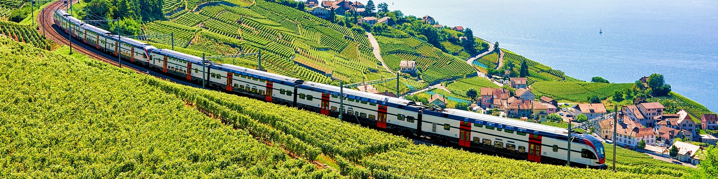 Double deck train Lavaux