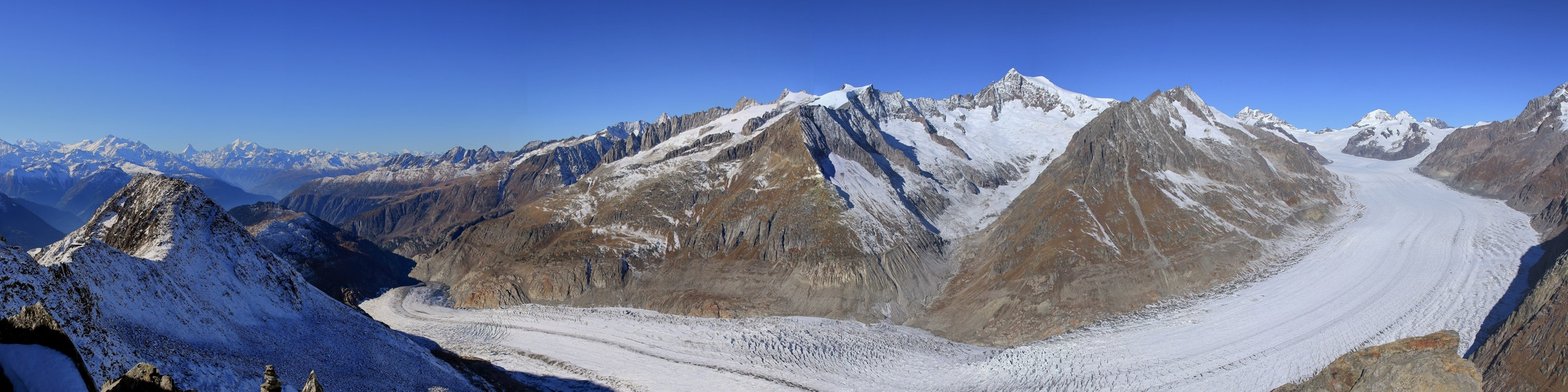 Aletsch glacier from Eggishorn