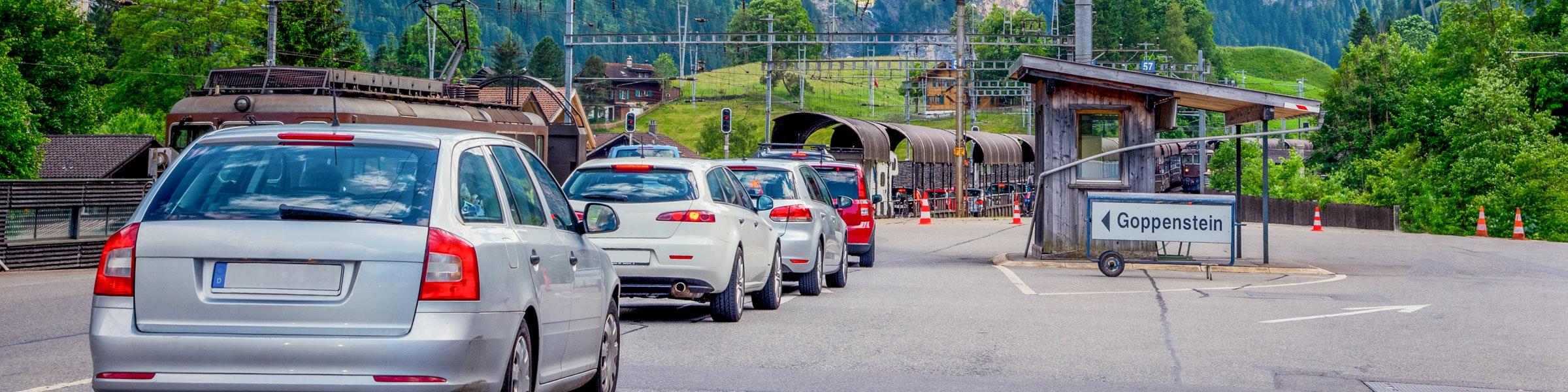 Lötschberg-Autoverlad im Kandersteg