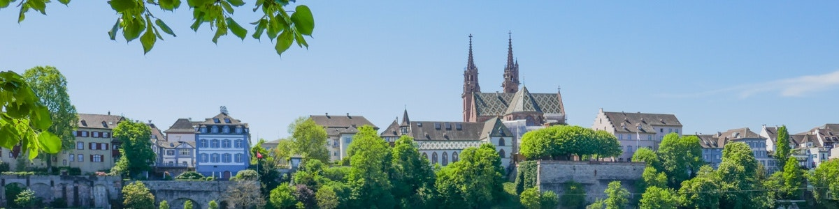 View of Basel and cathedral