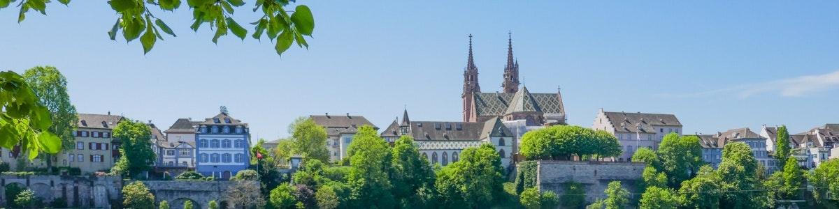 Zicht op Basel en kathedraal
