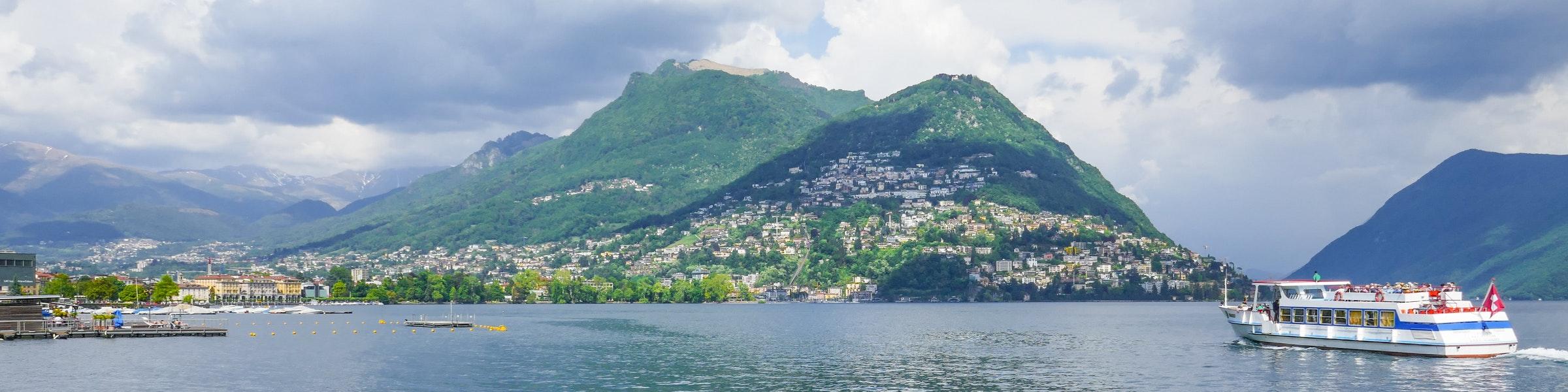 Boot op het Lago di Lugano