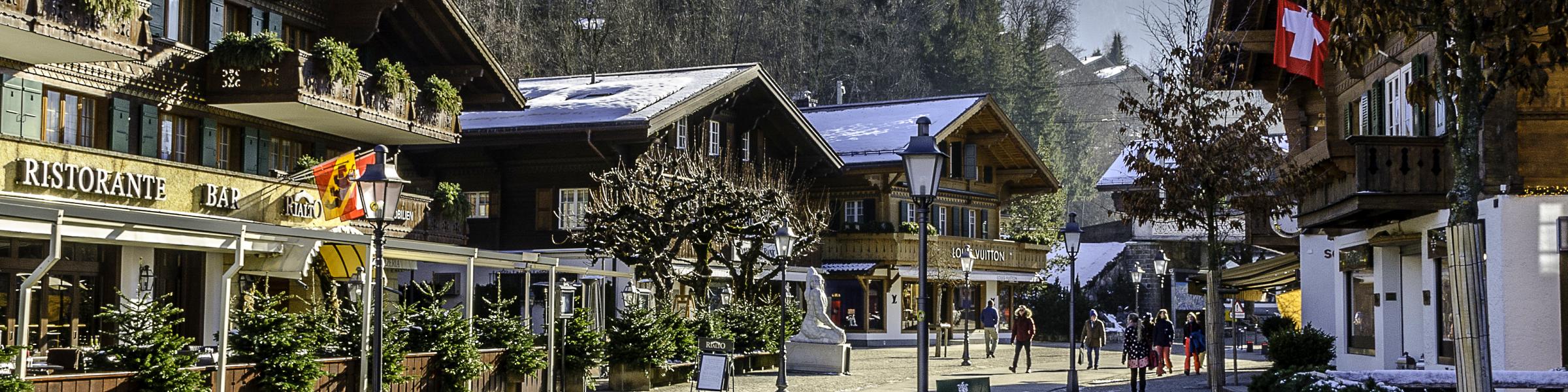 Main street of Gstaad