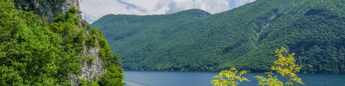Lake Lugano near Gandria