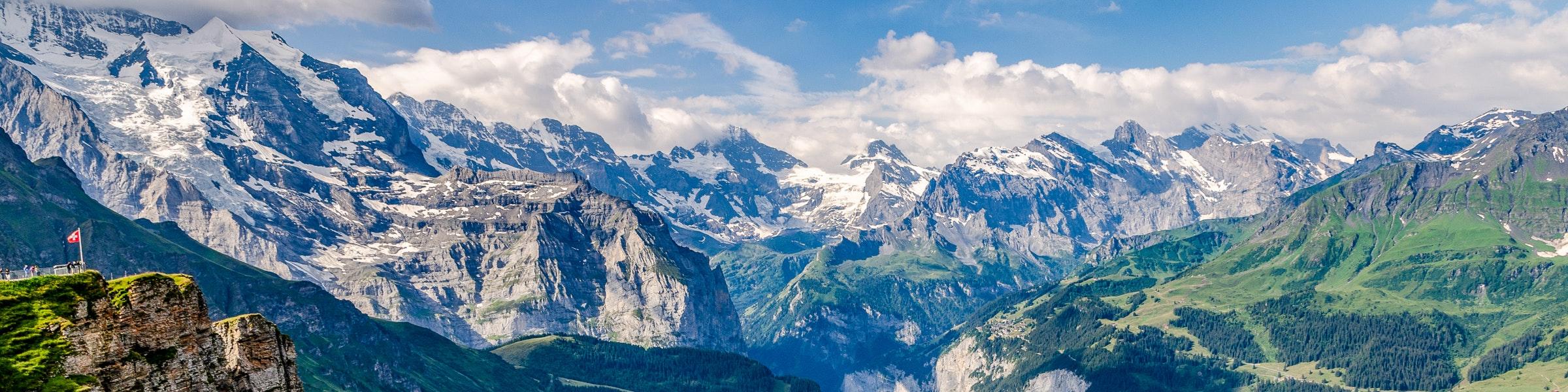 Jungfrau, Silberhorn und Breithorn vom Männlichen