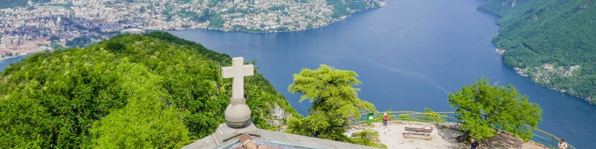 Lake Lugano from Monte San Salvatore