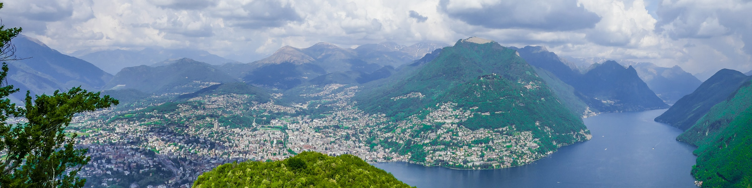 Lugano from Monte San Salvatore